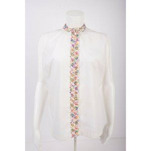 Vintage 70s Never Needs Ironing Embroidered Blouse